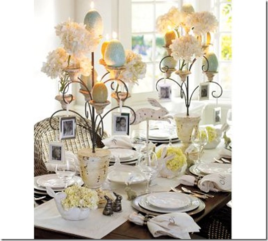pottery barn easter table
