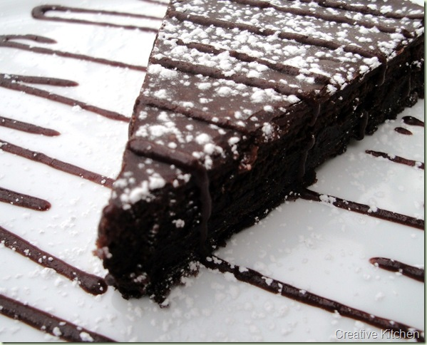 Slice Chocolate cake