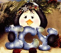 icy penguin ornament