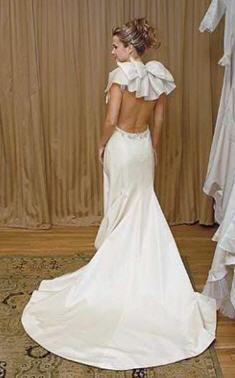 vestido de novia sin espalda