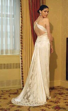 vestido de novia espalda abierta