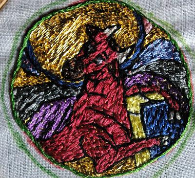 Broderie à appliquer, XIème siècle SG1L5782