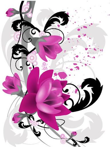 Birbirinden güzel çiçek vectorleri2