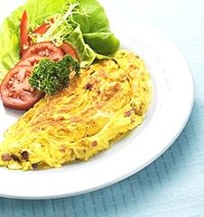 omelett til frokost
