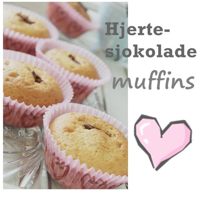 hjerte sjokolade muffins