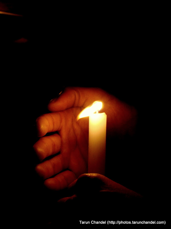 Mumbai Terrorist Attacks, Candle Light Vigil in London, Tarun Chandel Photoblog