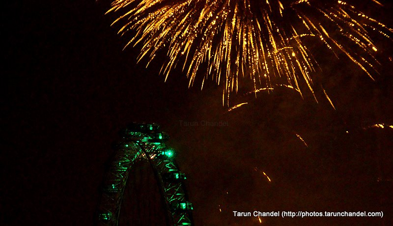 New Year London Eye Fireworks, Tarun Chandel Photoblog