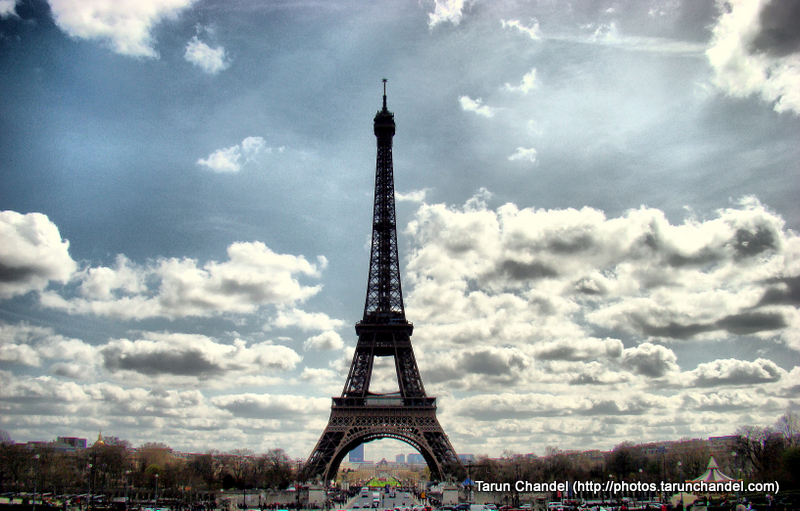 Eiffel Tower Clouds Paris France, Tarun Chandel Photoblog