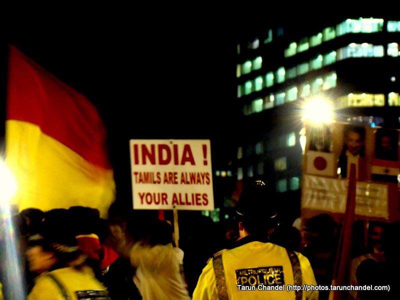 Tamil Protest London, Tarun Chandel Photoblog