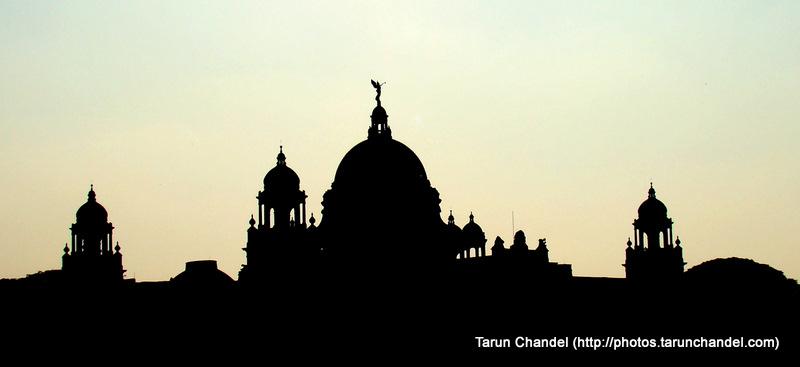 Victoria Memorial Silhouette Kolkata Trip, Tarun Chandel Photoblog