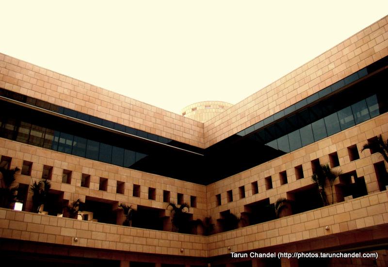 Inside Academic Building ISB Indian School of Business Hyderabad, Tarun Chandel Photoblog