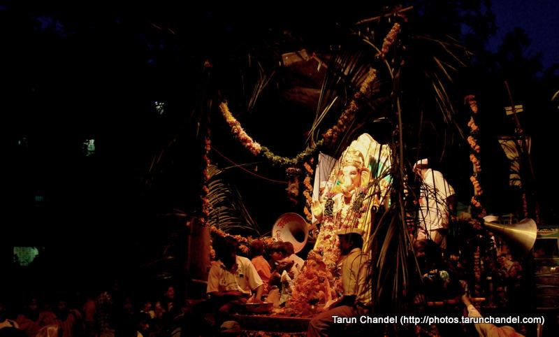 Ganpati Ganesh Visarjan Mumbai, Tarun Chandel Photoblog