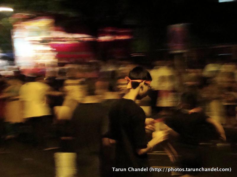 Fast Moving Ganesh Visarjan Festival Mumbai, Tarun Chandel Photoblog