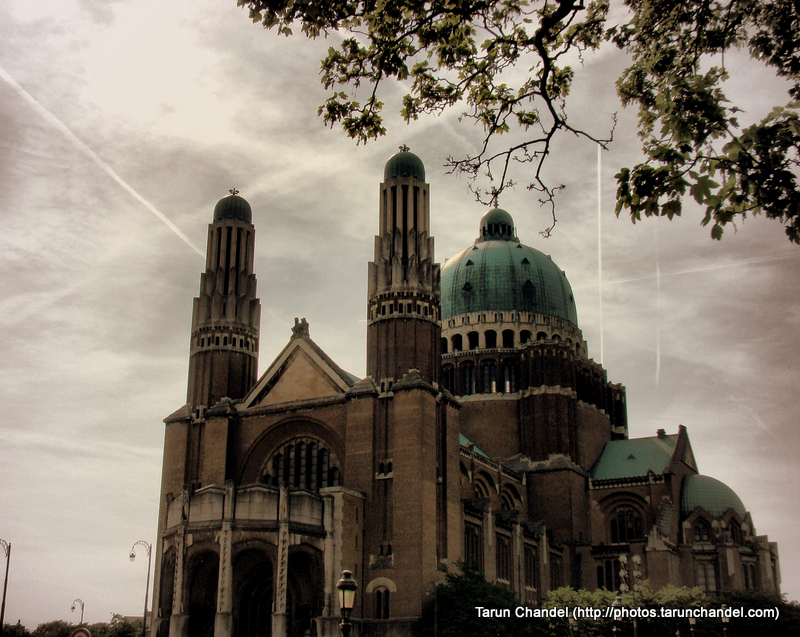 Basilica of the Sacred Heart Brussels Belgium Front Side, Tarun Chandel Photoblog