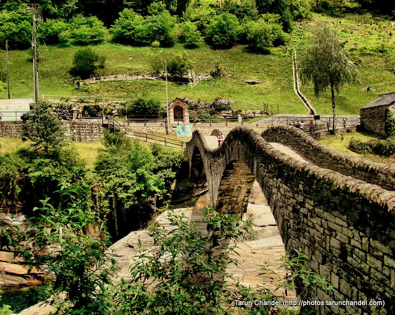 Ponte dei Salti Ancient double arch stone bridge in Lavertezzo Verzasca valley Switzerland, Tarun Chandel Photoblog