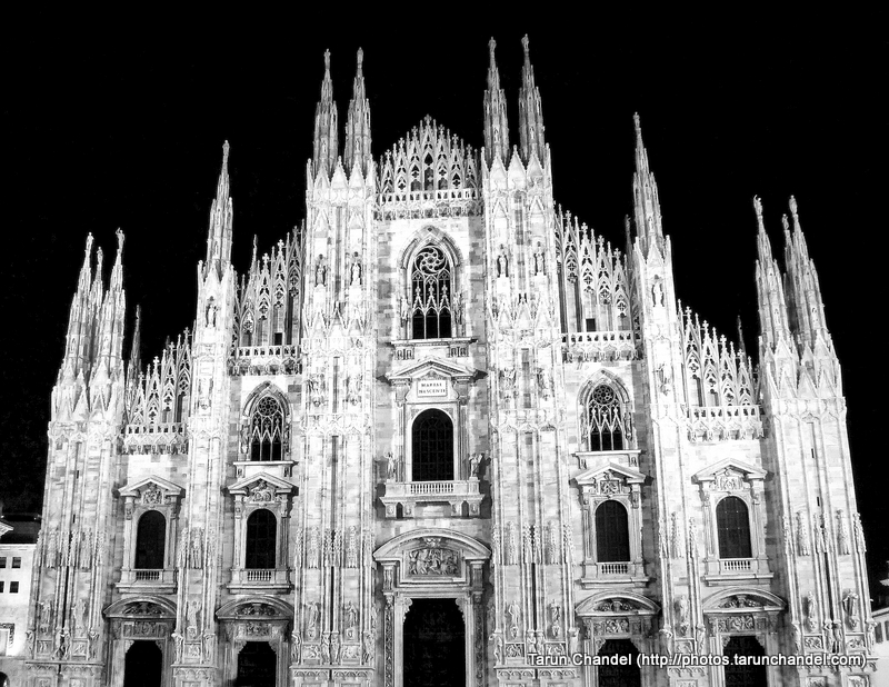 Milan Duomo Milan Cathedral Night Milan Italy, Tarun Chandel Photoblog