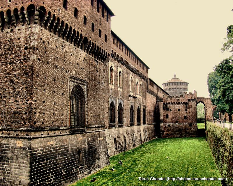 Castello Sforzesco Sforza Castle Side Garden Milan Italy, Tarun Chandel Photoblog