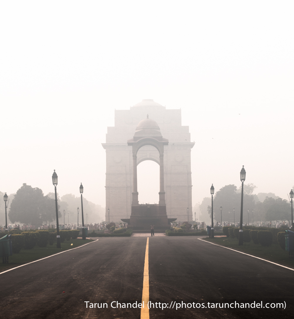 India Gate New Delhi Delhi Fog, Tarun Chandel Photoblog