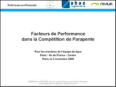 De la préparation à la réalisation de la performance