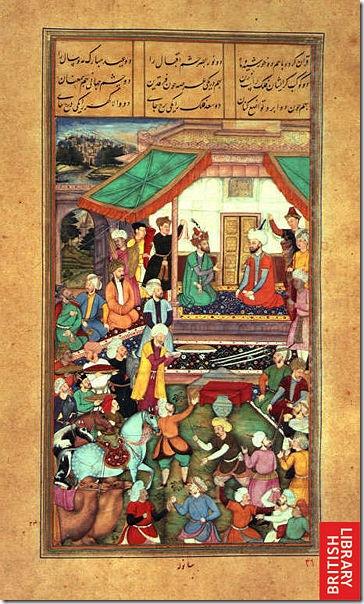 莫卧尔王朝的宫廷绘画 两位汗王的相见