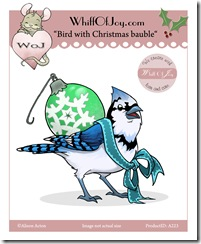 A223_Bird with Christmas Bauble