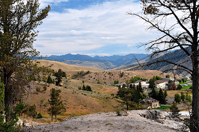 view of Mammoth Village, Yellowstone National Park