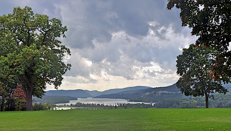 Hudson River panorama with West Point