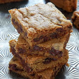Pumpkin Chocolate Chip Blondie Bars