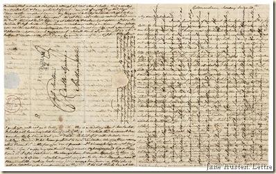 Jane Austen. Lettre