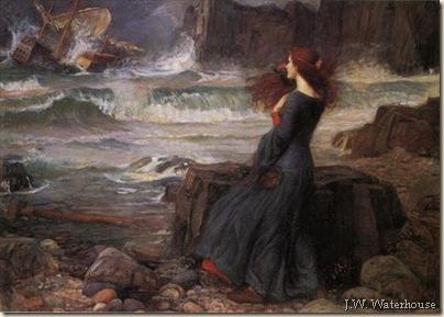J.W. Waterhouse.Miranda. La tempêe