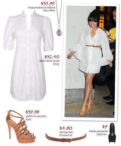 vanessa hudgens style for less. labels: vanessa hudgens