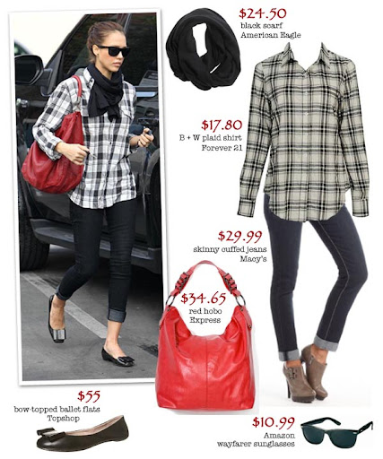 Steal Jessica Alba's polished casual chic with affordable buys from American