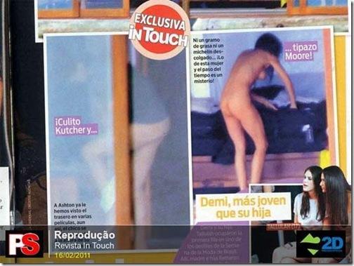 Ashton e Demi nus