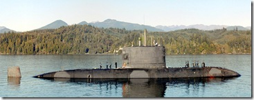 HMCS_Victoria_SSK-876_near_Bangor courtesy Wikipedia