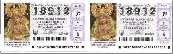 Lotería 23-04-2011