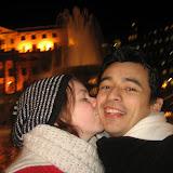 En härlig puss i Trafalgar Square
