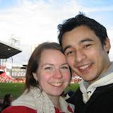 Sara som fixat fenomenala platser till FA cup matchen.