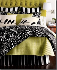 bedding-green and black
