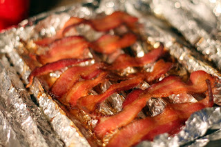 picture of bacon on oven pan