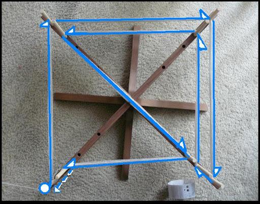 swift warping board with diagram