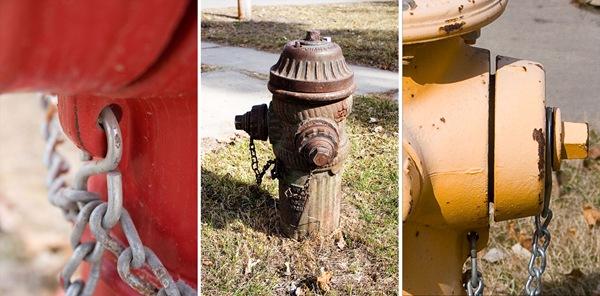 Hydrant-triptych
