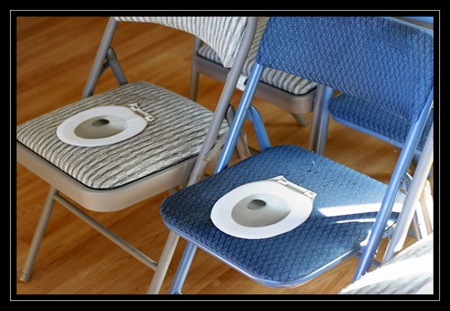 Potty party chairs