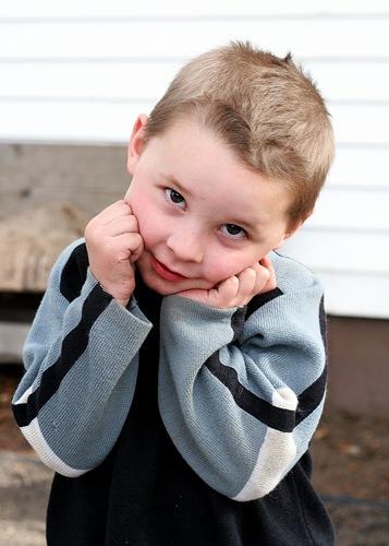 Caleb posing