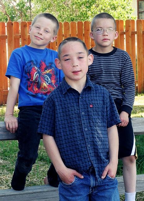 Three boys in May