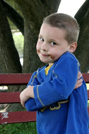 Caleb at park
