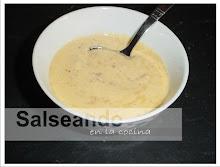 Salsa o crema de almendras (carnes y pescados)