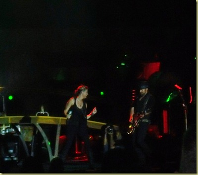 Sugarland performing on stage.