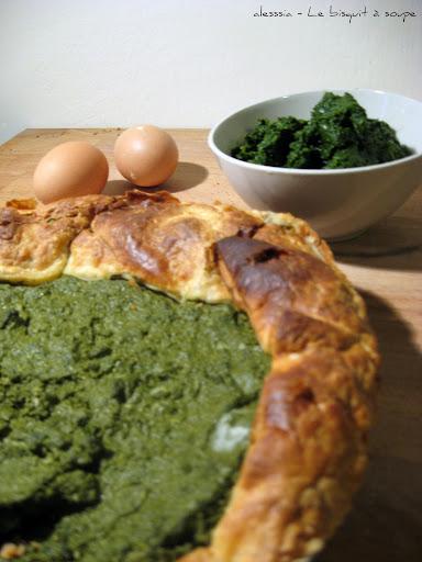Torta salata agli spinaci e caprino