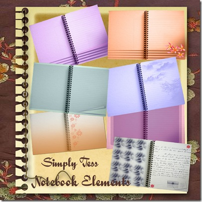 Simply Tess Notebook Preview