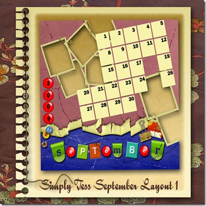 SimplyTess September Layout 01 Preview